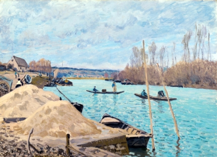The Seine at Port Marly, Piles of Sand, 1933