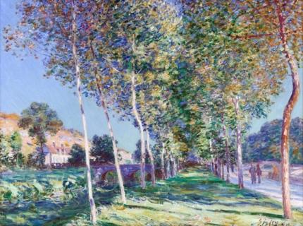 Poplar alley around Moret-sur-Loing 1892