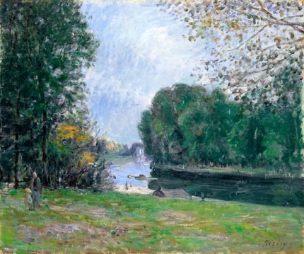 A turn of the River Loing, Summer