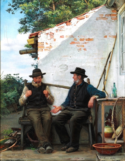 Two Old Men Sitting In The Shadow, Hornbæk