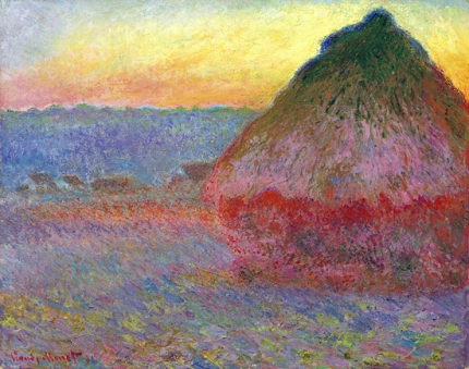 Grainstack, Impression In Pinks and Blues, 1891