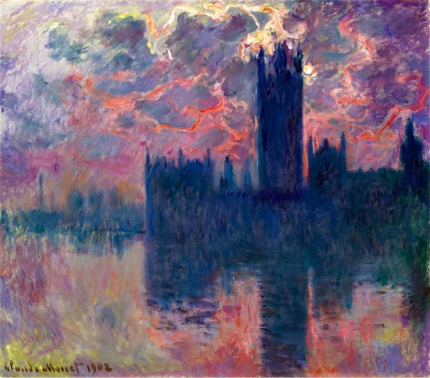 The Houses of Parliament, at Sunset