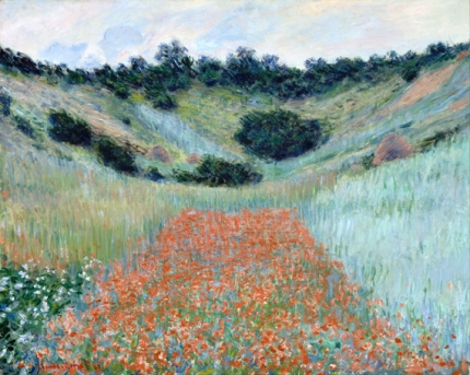 Poppy Field In A Hollow near Giverny 1885