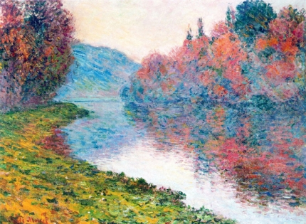 Banks of the Seine at Jenfosse - Clear Weather, 1884