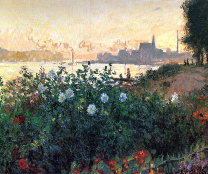 Argenteuil, Flowers By the Riverbank, 1877