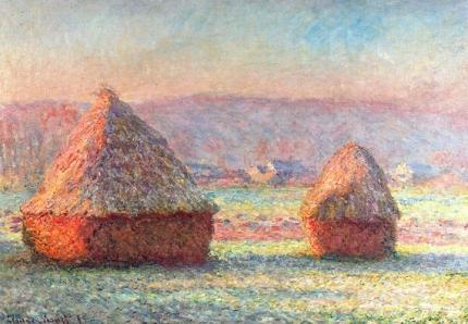 Haystacks - White Frost, Sunrise, 1889