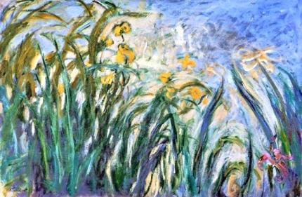 Yellow Irises and Malva, 1914-17