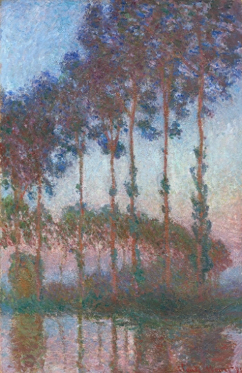 Poplars On the Banks of the River Epte In the Morning Twilight, 1891