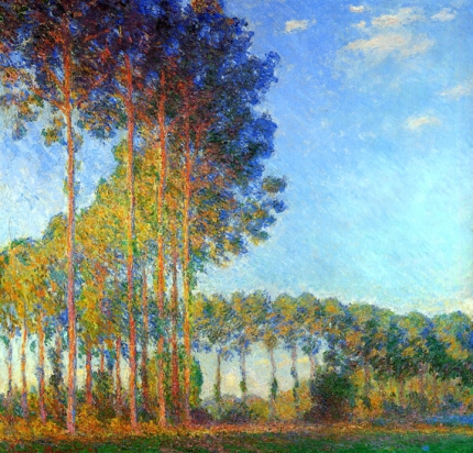 Poplars On The Banks of The River Epte Seen From The Marsh 1892