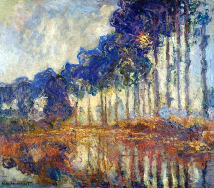 Poplars On the Banks of the River Epte, 1891