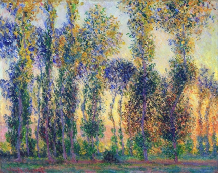 Poplars at Giverny, 1888