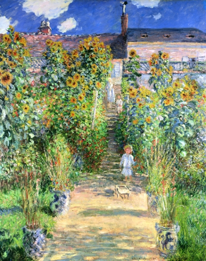 Monet's Garden at Vétheuil (1880)