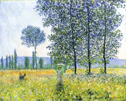 Sunlight Effect Under the Poplars, 1887