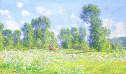 Meadow In Giverny, Spring Effect, 1890