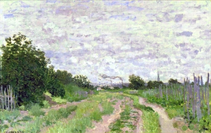 Lane In the Vineyards at Argenteuil, 1872