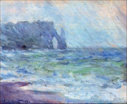 The Manneport, Etretat In the Rain, 1885-86