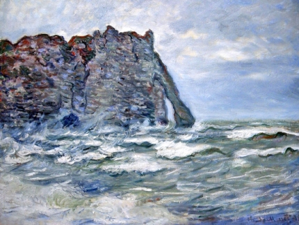 Port D'aval, Rough Sea, 1883