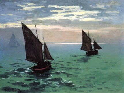 Fishing Boats at Sea, 1868