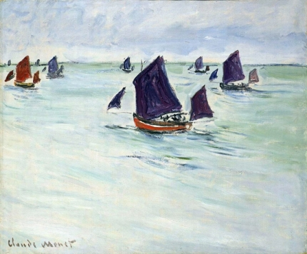 Fishing Boats at the Sea near Pourville, 1882
