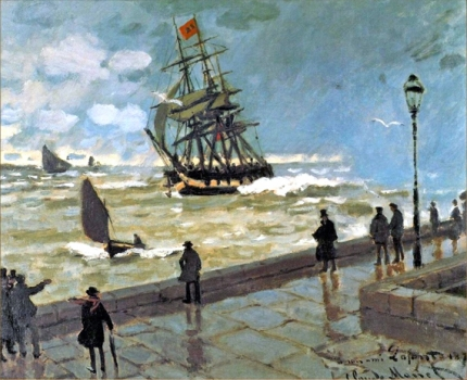 The Jetty at Le Havre Bad Weather, 1870