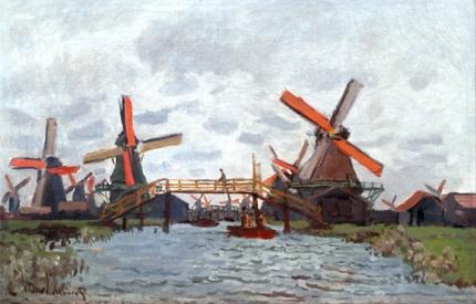 Mills at Westzijderveld near Zaandam