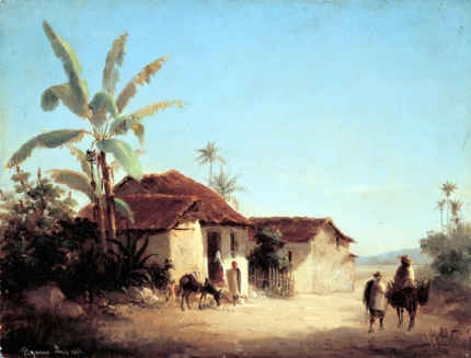 Landscape with Farmhouses and Palm Trees 1856