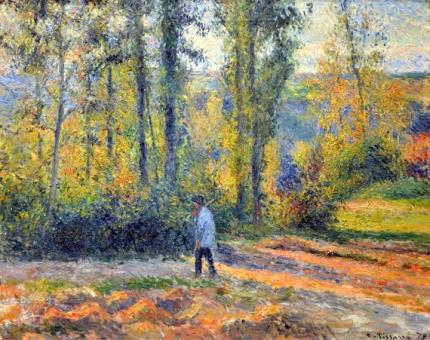 Hunter in a Landscape near Pontoise 1879