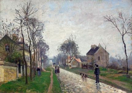 Route de Versailles, Louveciennes, Rain Effect 1870