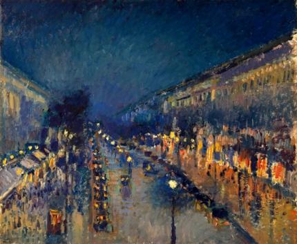 Boulevard Montmartre at Night 1897