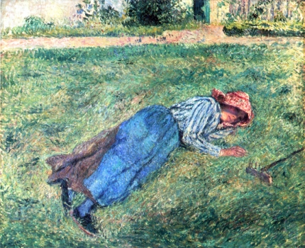 Girl Lying in the Grass 1882