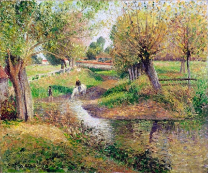 The trough, in Eragny. 1895