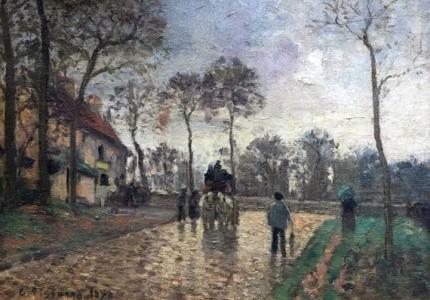 Diligence à Louveciennes 1870