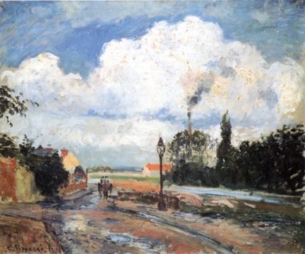 The Quai du Pothuis at Pontoise after Rain 1876