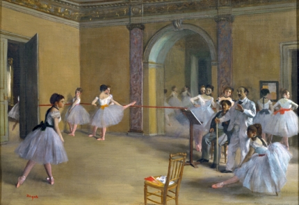 Ballet Studio at the Opera in Rue Le Peletier 1872