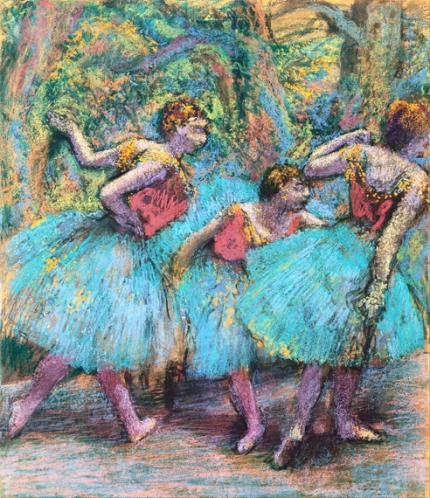 Three Dancers (Blue Tutus, Red Bodices) 1903