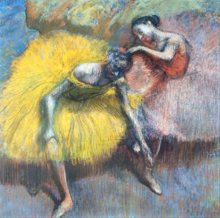 Deux Danseuses Jaunes Et Roses 1898