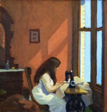 Girl at a Sewing Machine