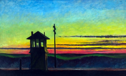Railroad Sunset 1929