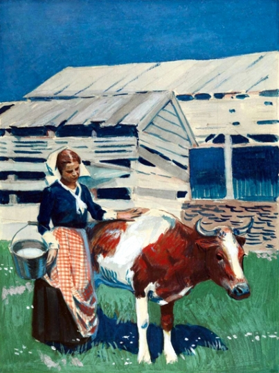 Milk Maid and Cow