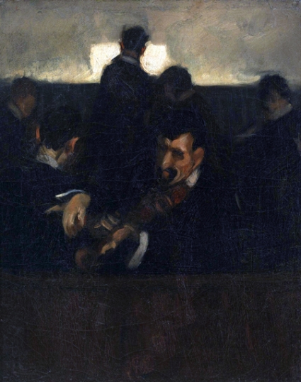 Group of Musicians in an Orchestra Pit