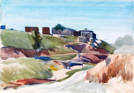 Houses Near a Dry Stream 1925