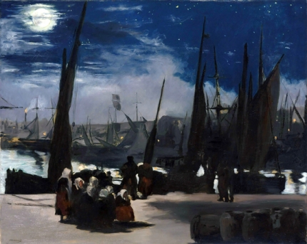 Moonlight over the Port of Boulogne 1868