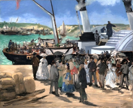 フォークストンの汽船の出航