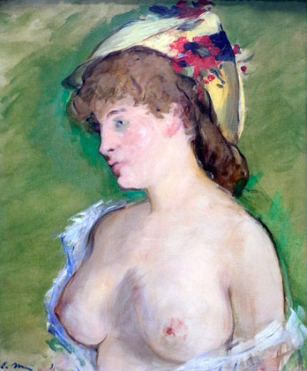 Blonde Woman with Bare Breasts 1872