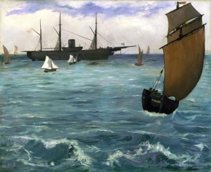 The Kearsarge at Boulogne 1864