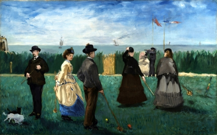 Croquet at Boulogne 1871