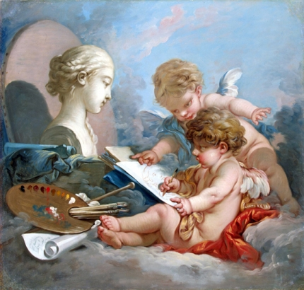 Cupids, Allegory of Painting