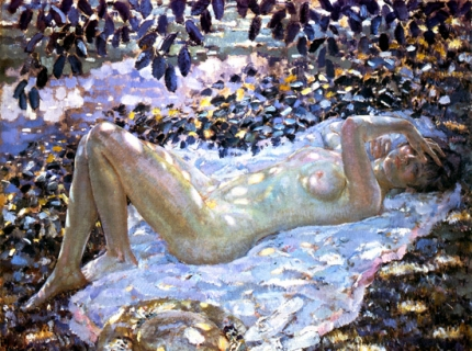 Nude In Dappled Sunlight