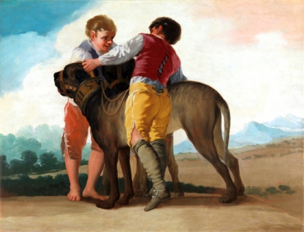 Children with hunting dogs 1786