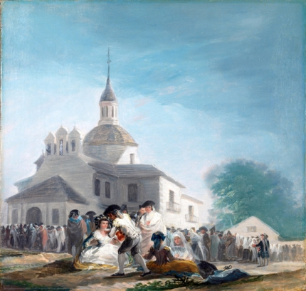 The hermitage of San Isidro on the day of the festival 1788